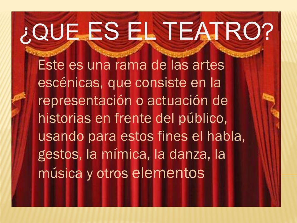 La etimología de la palabra teatro es del griego theatron , que significa lugar para ver o lugar para contemplar