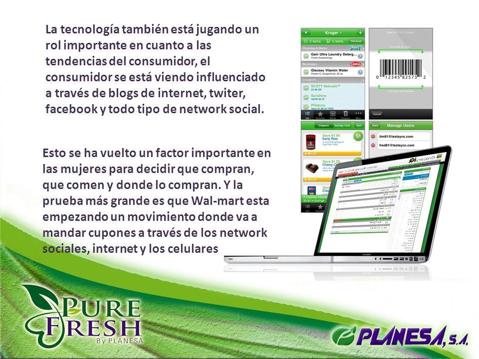 La tecnología también está jugando un rol importante en cuanto a las tendencias del consumidor, el consumidor se está viendo influenciado a través de