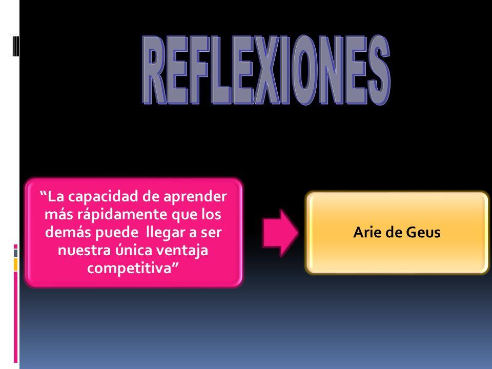 La capacidad de aprender más rápidamente que los demás puede llegar a ser nuestra única ventaja competitiva Arie de Geus