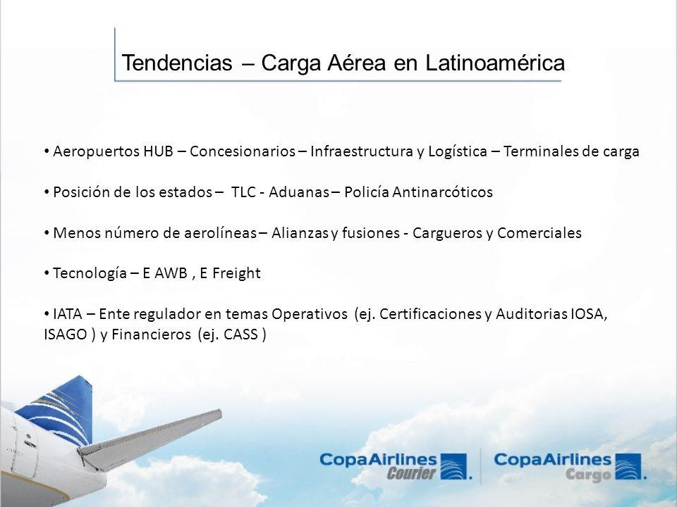 Tendencias – Carga Aérea en Latinoamérica Aeropuertos HUB – Concesionarios – Infraestructura y Logística – Terminales de carga Posición de los estados