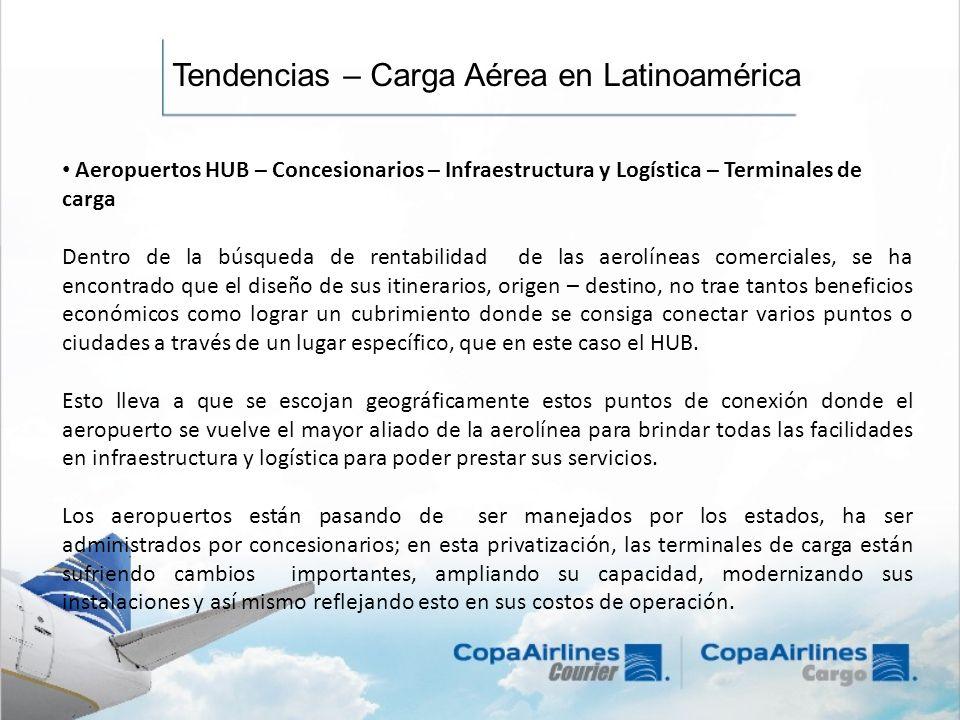Tendencias – Carga Aérea en Latinoamérica Aeropuertos HUB – Concesionarios – Infraestructura y Logística – Terminales de carga Dentro de la búsqueda d