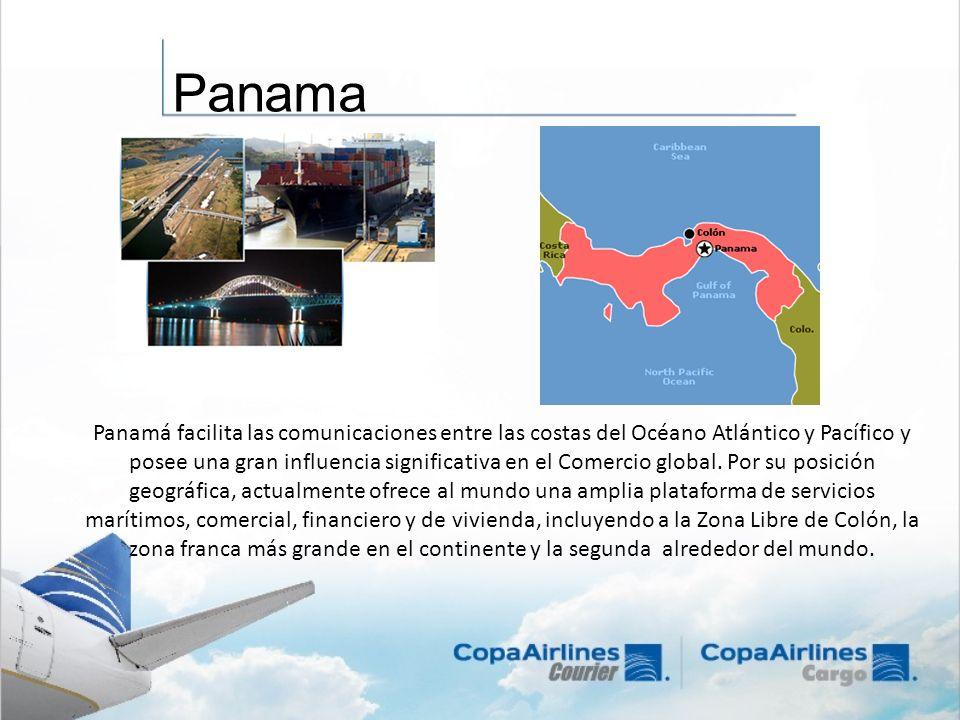 Panamá facilita las comunicaciones entre las costas del Océano Atlántico y Pacífico y posee una gran influencia significativa en el Comercio global. P