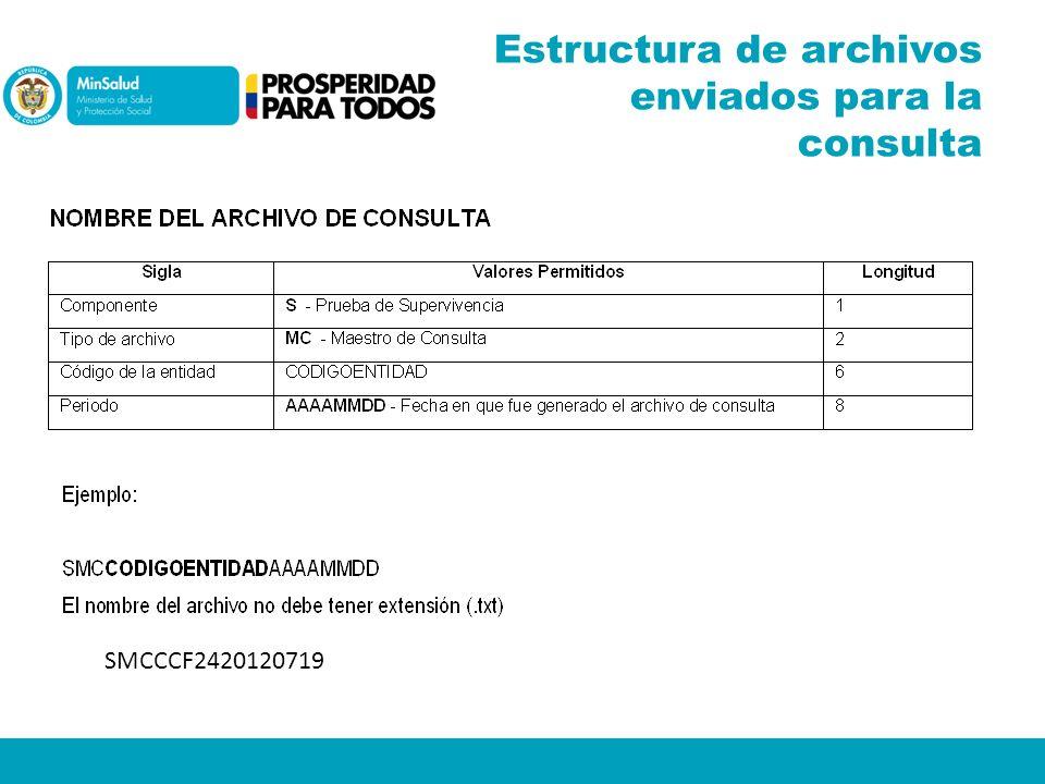 SMCCCF2420120719 Estructura de archivos enviados para la consulta
