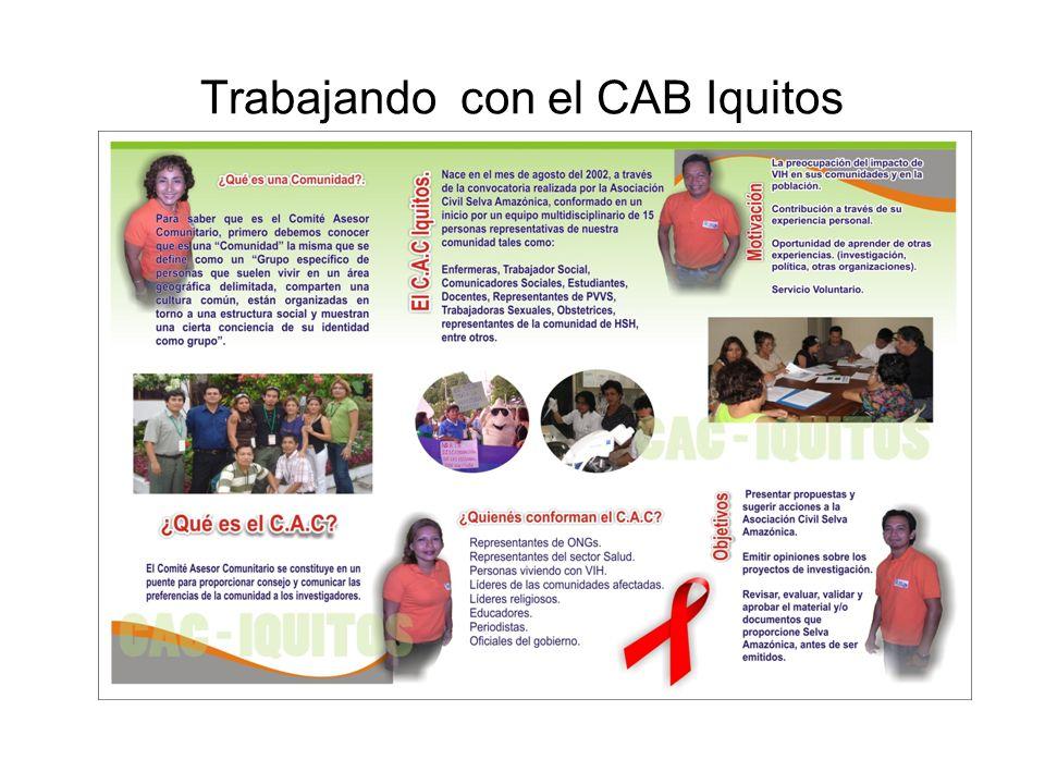 Trabajando con el CAB Iquitos