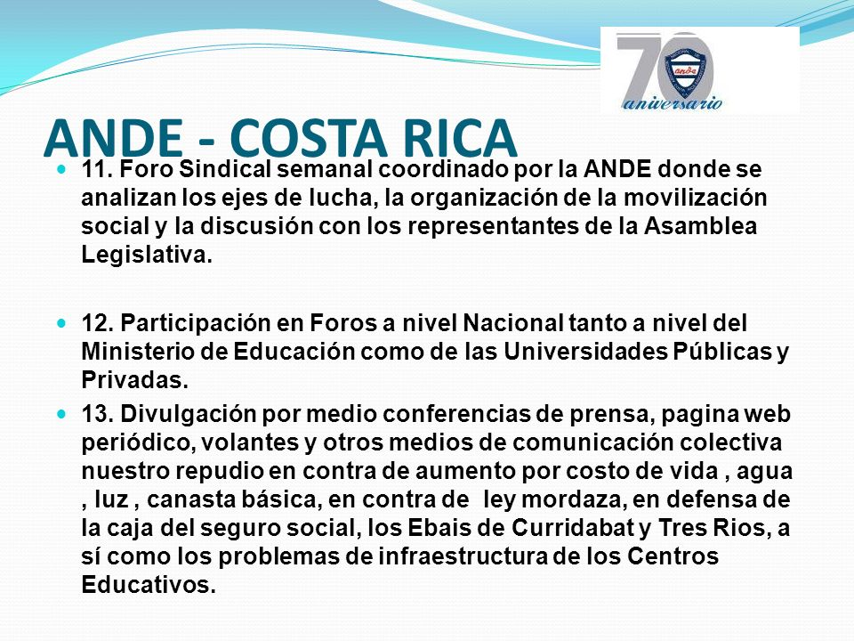 ANDE - COSTA RICA 11.