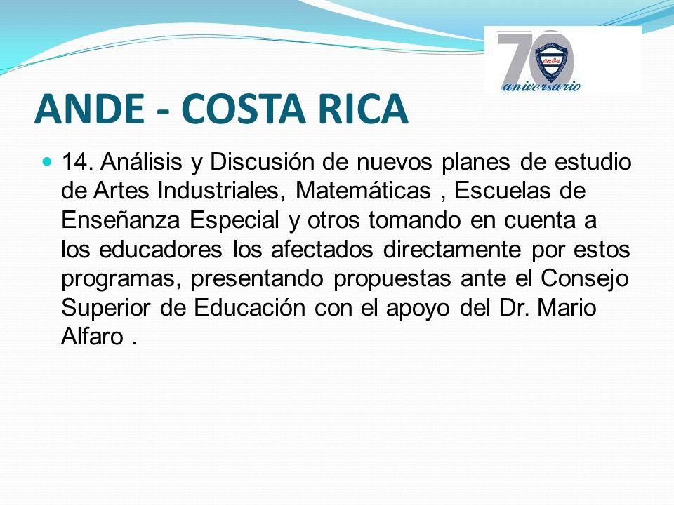 ANDE - COSTA RICA 14.