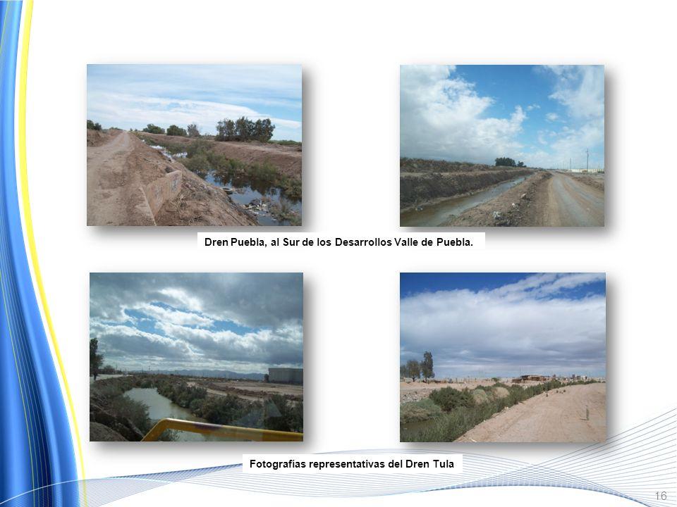 Dren Colector del Norte al Oeste de la Colonia El Robledo. Dren México, ubicado a un costado del Fracc. Valle Dorado. 15
