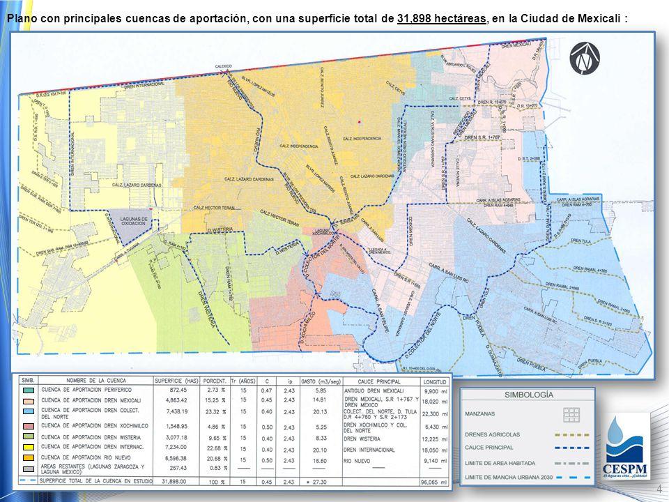 3 Encharcamientos en Colonia Prohogar y Fracc. Cataviña. Blvr. de los Presidentes y Centro Cívico de Mexicali.