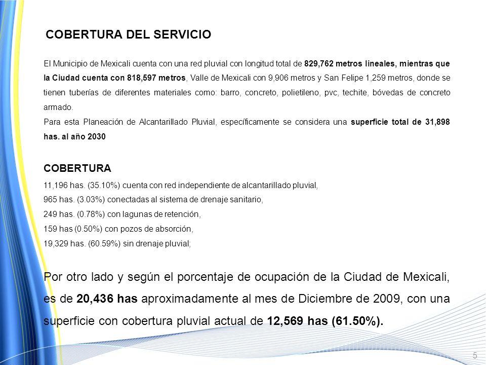 Plano con principales cuencas de aportación, con una superficie total de 31,898 hectáreas, en la Ciudad de Mexicali : 4
