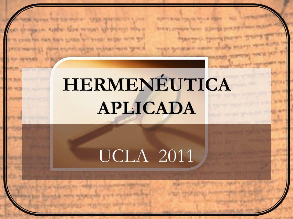 LISTAS HERMENÉUTICA APLICADA