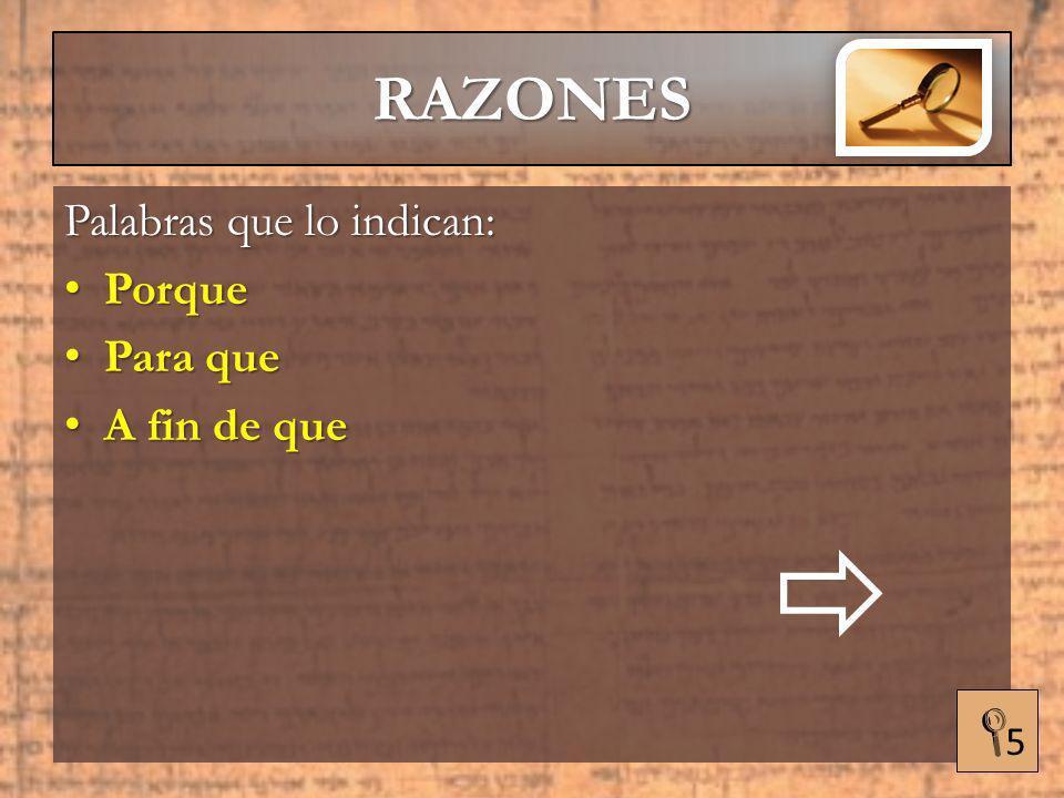 RAZONES HERMENÉUTICA APLICADA
