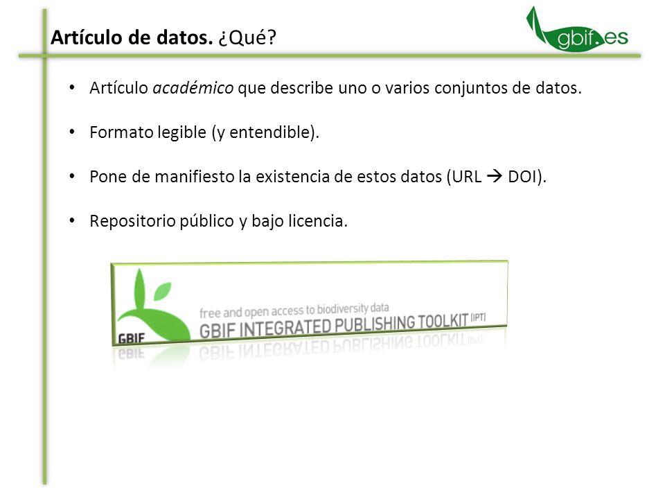 Título e información de los autores Resumen y palabras clave Detalles del proyecto Cobertura taxonómica Artículo de datos.