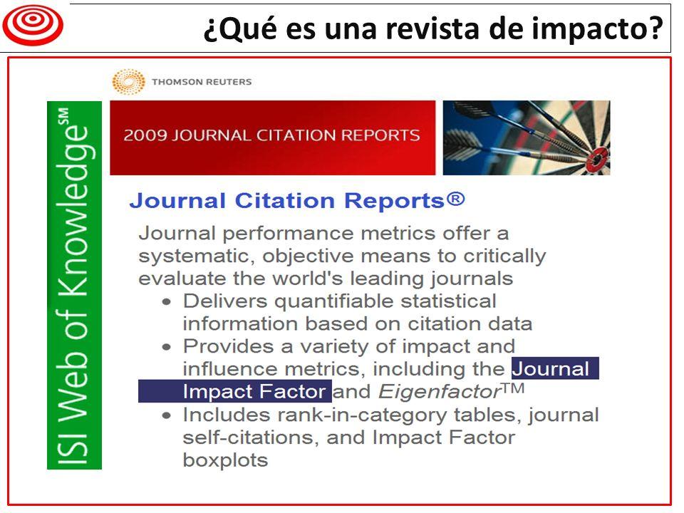 ¿Qué es una revista de impacto?