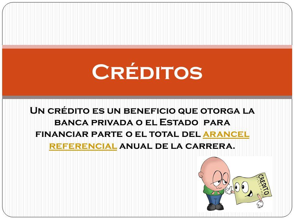 Existen varios tipos de financiamiento para la educación superior: Créditos de la banca privada Crédito con garantía estatal Crédito corfo Fondo solidario de crédito universitario