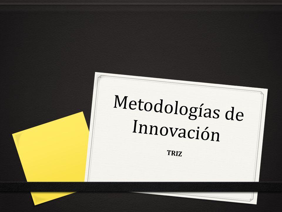 Metodologías de Innovación TRIZ