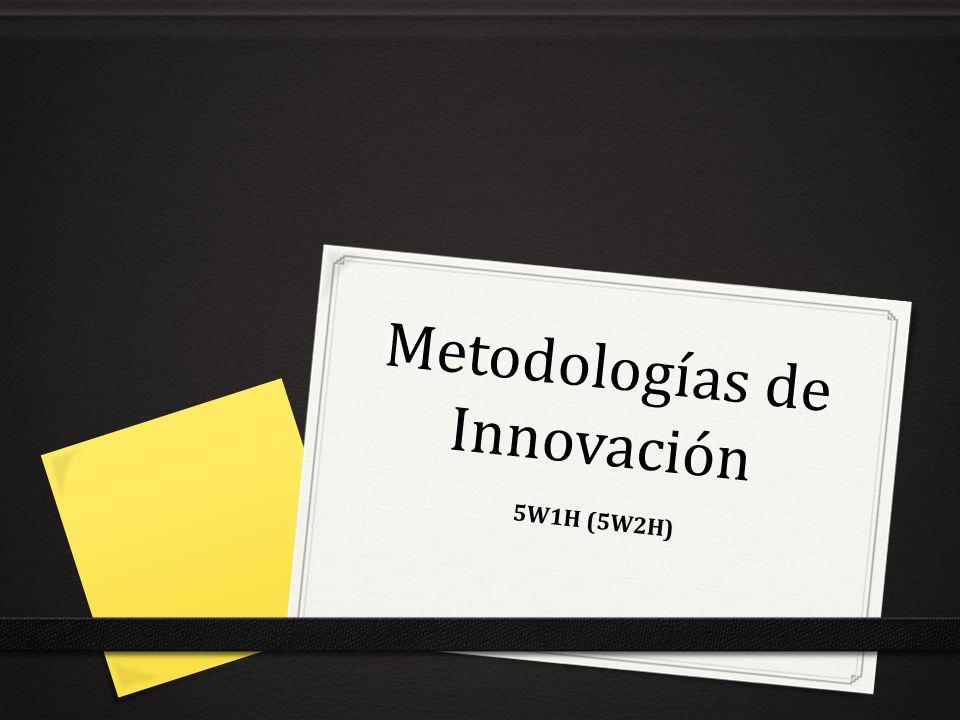 Metodologías de Innovación 5W1H (5W2H)