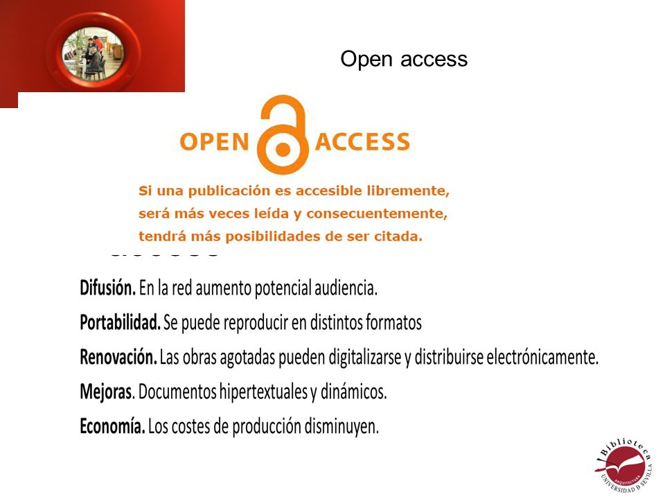 Open access Principales recursos Open access