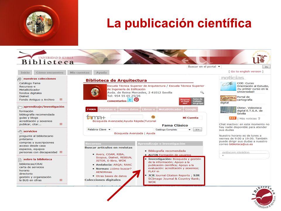 La publicación científica