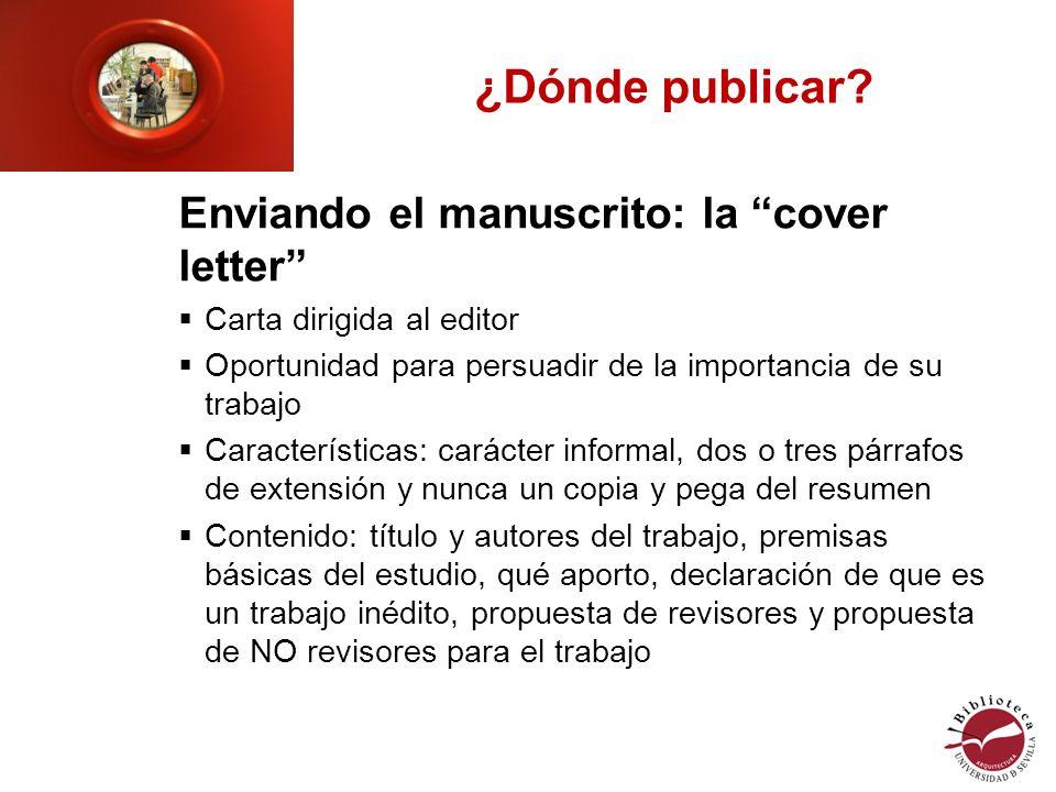 ¿Dónde publicar.