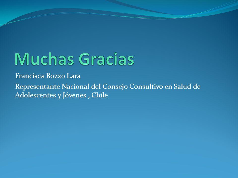 Francisca Bozzo Lara Representante Nacional del Consejo Consultivo en Salud de Adolescentes y Jóvenes, Chile