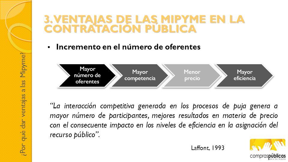 La interacción competitiva generada en los procesos de puja genera a mayor número de participantes, mejores resultados en materia de precio con el con