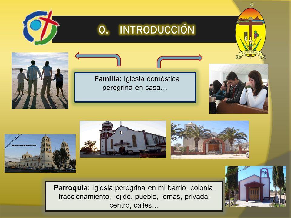 Familia: Iglesia doméstica peregrina en casa… Parroquia: Iglesia peregrina en mi barrio, colonia, fraccionamiento, ejido, pueblo, lomas, privada, cent