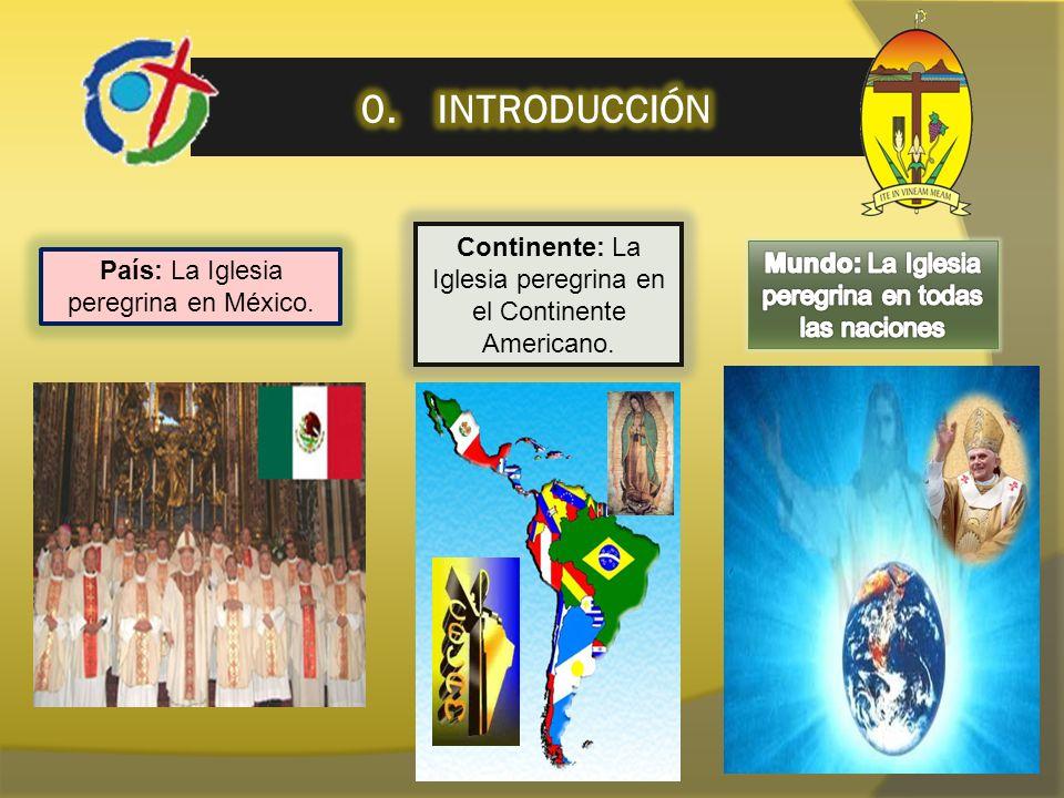 País: La Iglesia peregrina en México. Continente: La Iglesia peregrina en el Continente Americano.