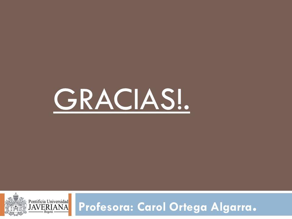 Profesora: Carol Ortega Algarra. GRACIAS!.