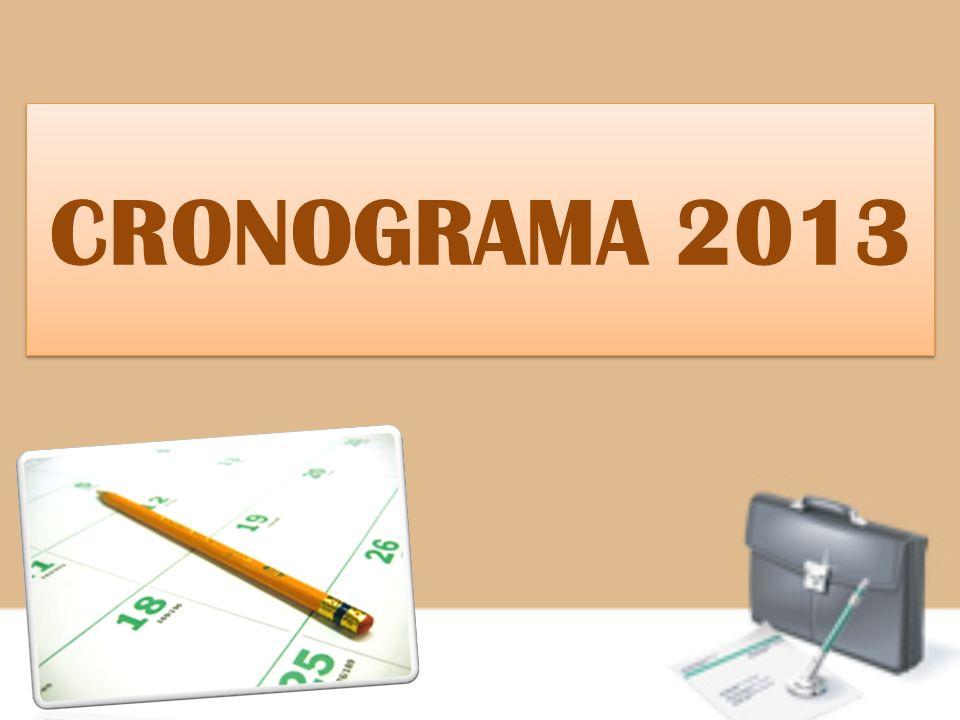 CRONOGRAMA 2013