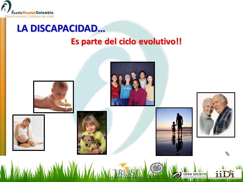 LA DISCAPACIDAD… Es parte del ciclo evolutivo!!