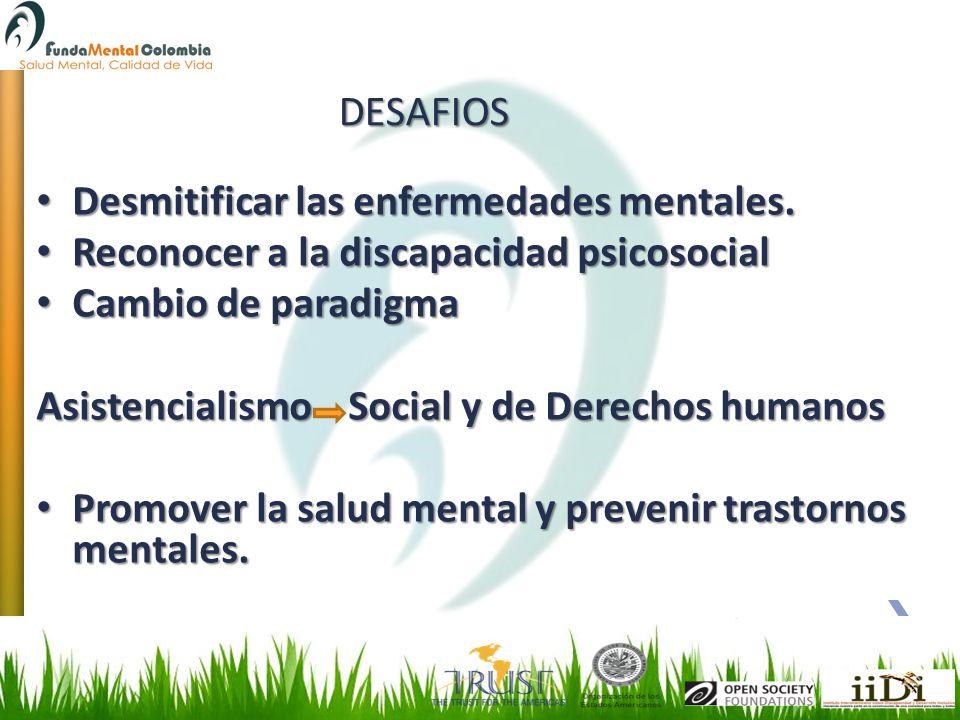 Desmitificar las enfermedades mentales. Desmitificar las enfermedades mentales. Reconocer a la discapacidad psicosocial Reconocer a la discapacidad ps