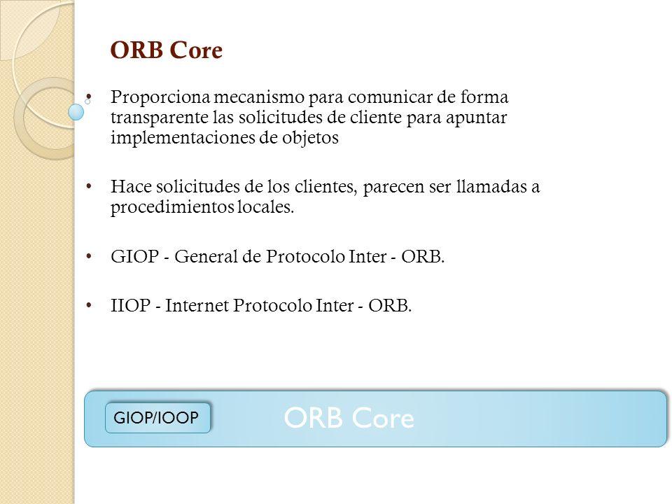 Depósito de Implementación (Implementation Repository) Contiene información que permite al ORB para localizar y activar implementaciones de objetos. P