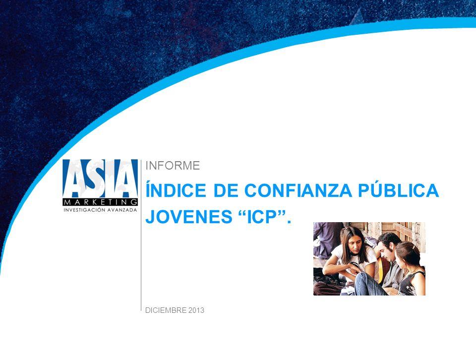 1 Estudio Índice de Confianza DICIEMBRE 2013 ÍNDICE DE CONFIANZA PÚBLICA JOVENES ICP. INFORME DICIEMBRE 2013