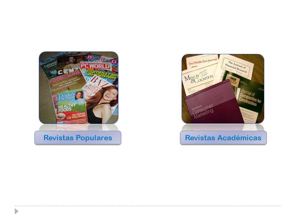 Revistas Populares Revistas Académicas