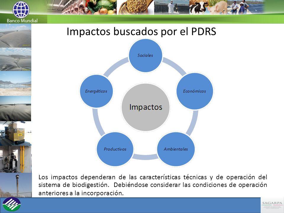 Los impactos dependeran de las características técnicas y de operación del sistema de biodigestión. Debiéndose considerar las condiciones de operación
