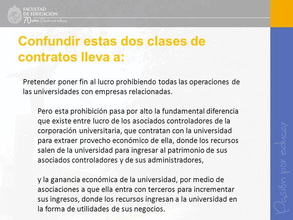 Pretender poner fin al lucro prohibiendo todas las operaciones de las universidades con empresas relacionadas. Pero esta prohibición pasa por alto la