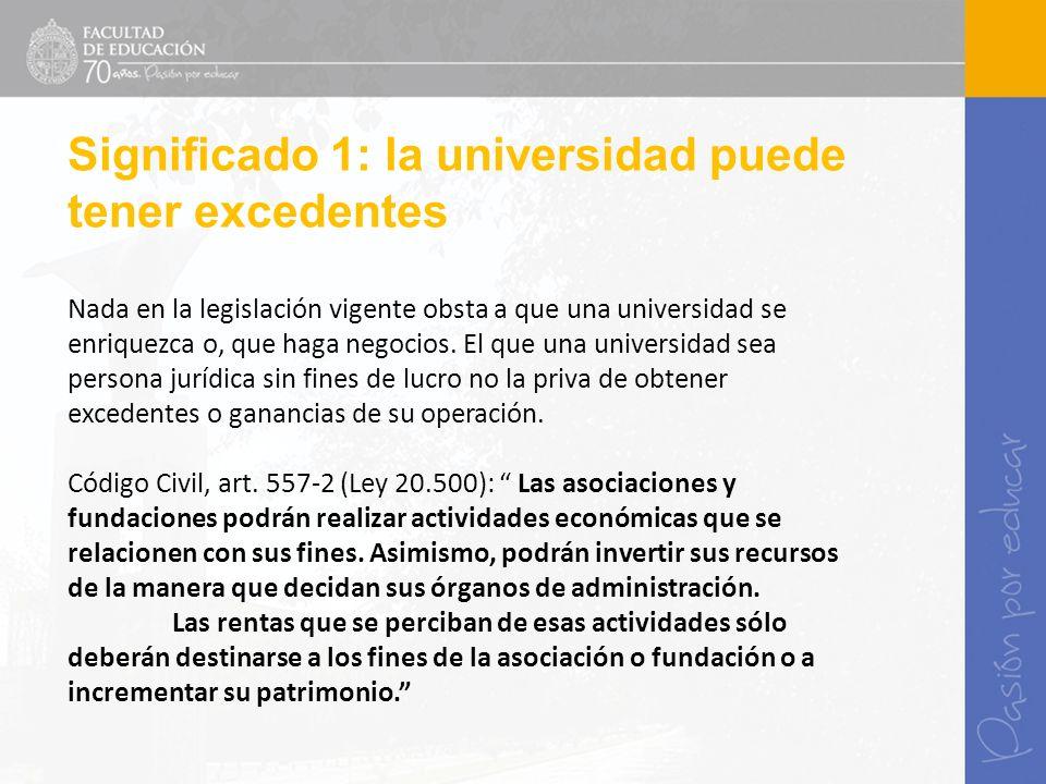 Nada en la legislación vigente obsta a que una universidad se enriquezca o, que haga negocios. El que una universidad sea persona jurídica sin fines d
