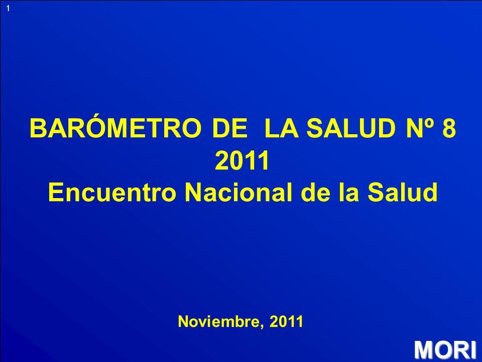 MORI 1 BARÓMETRO DE LA SALUD Nº 8 2011 Encuentro Nacional de la Salud Noviembre, 2011