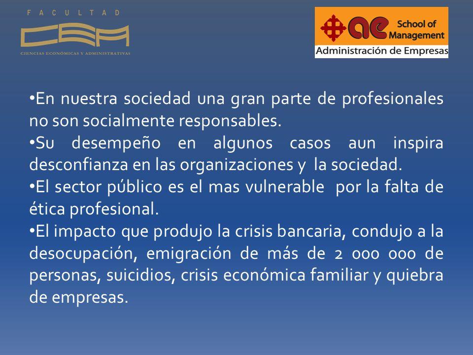 La asignatura de ética profesional en el currículo profesional actual En la formación integral del futuro profesional se considera prioritaria la ética.