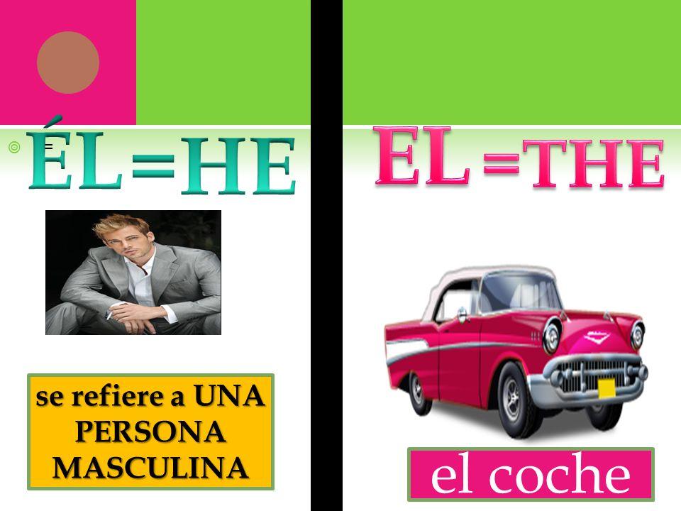 = se refiere a UNA PERSONA MASCULINA el coche