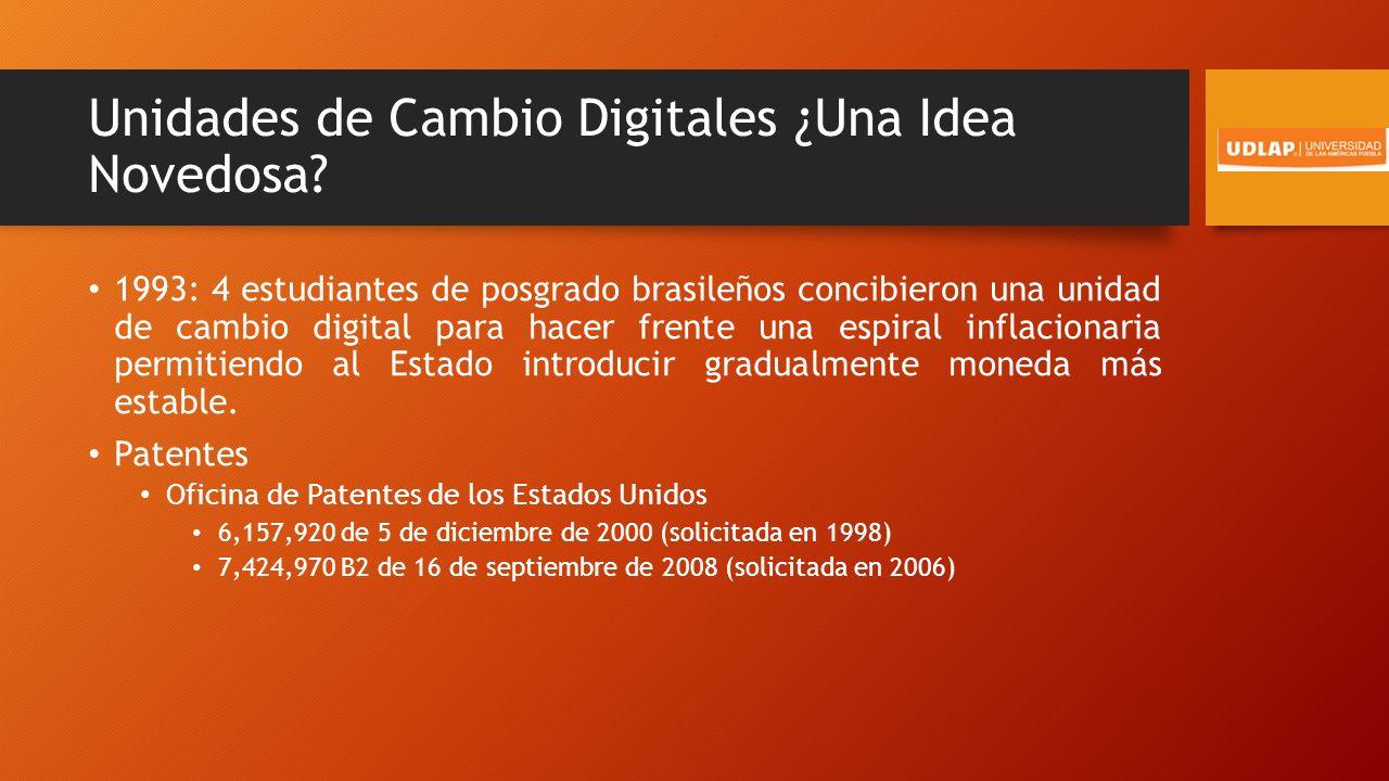 Unidades de Cambio Digitales ¿Una Idea Novedosa.