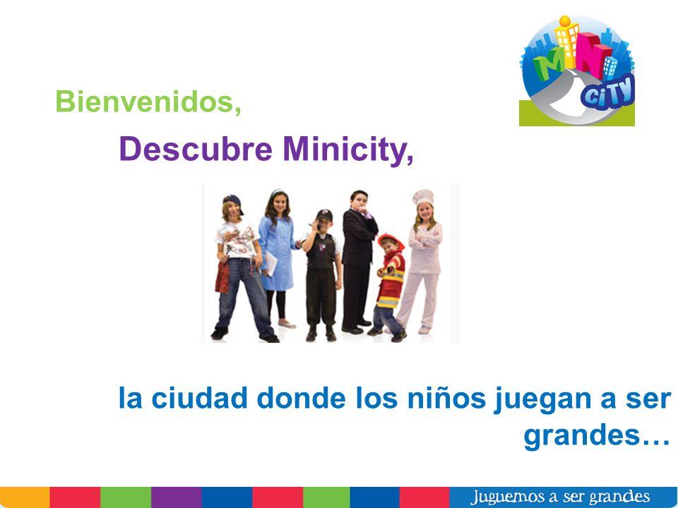 Bienvenidos, Descubre Minicity, la ciudad donde los niños juegan a ser grandes…