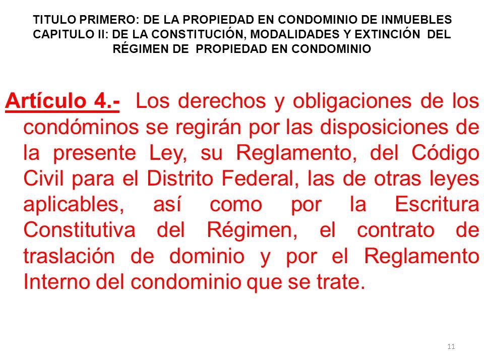ley sobre el regimen de propiedad y condominio: