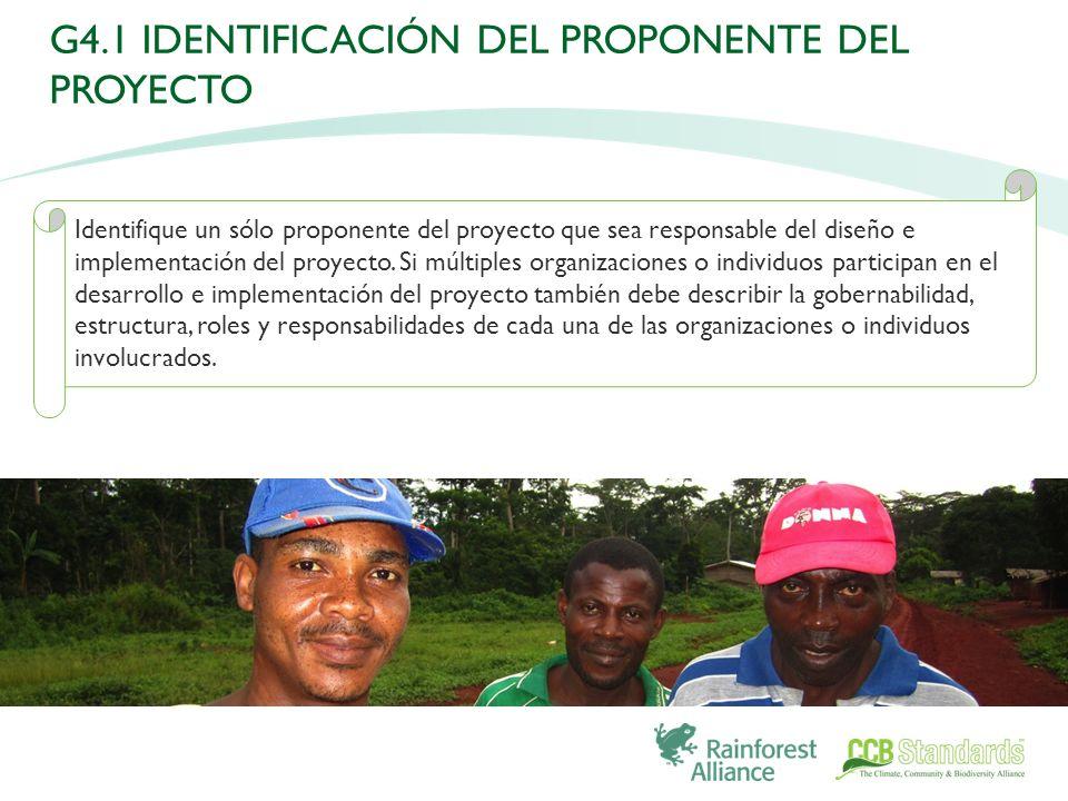 Identifique un sólo proponente del proyecto que sea responsable del diseño e implementación del proyecto.
