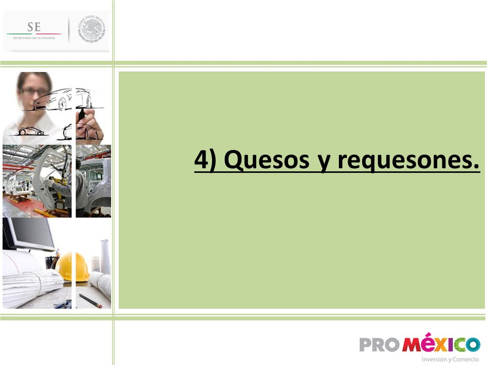 4) Quesos y requesones.
