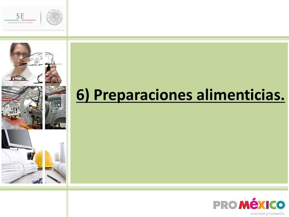 6) Preparaciones alimenticias.