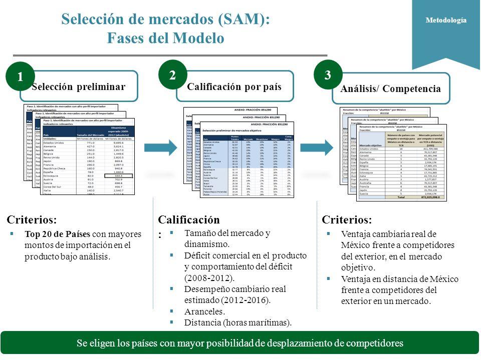 Selección de mercados (SAM): Fases del Modelo ¿Dónde.