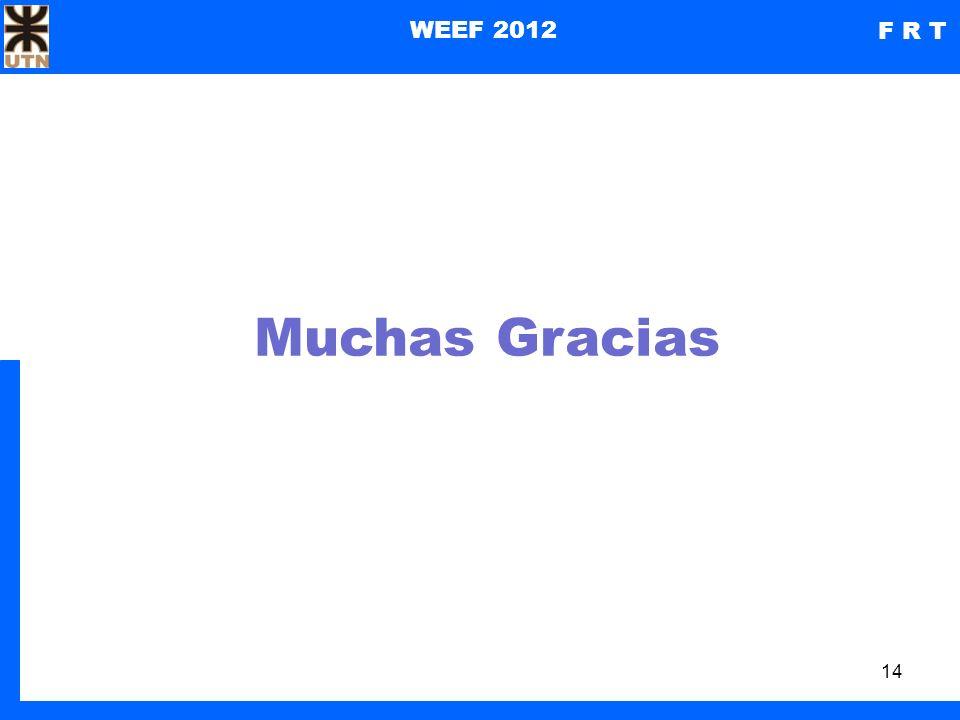 14 WEEF 2012 F R T Muchas Gracias