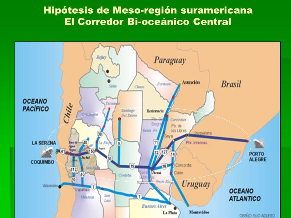 Hipótesis de Meso-región suramericana El Corredor Bi-oceánico Central
