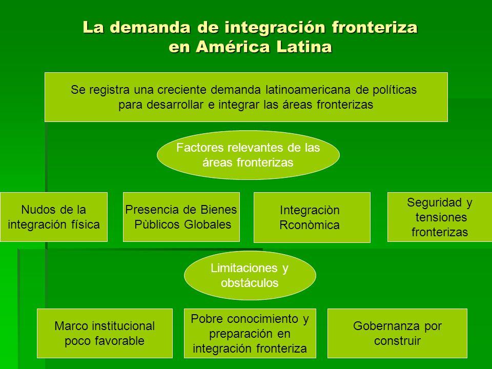 La demanda de integración fronteriza en América Latina Se registra una creciente demanda latinoamericana de políticas para desarrollar e integrar las